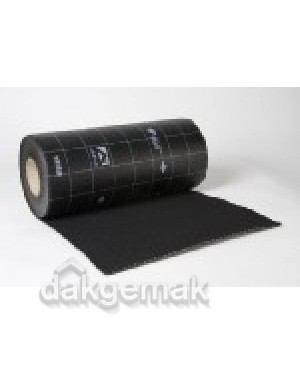 Ubiflex Standaard Loodvervanger 200mm x 6m zwart