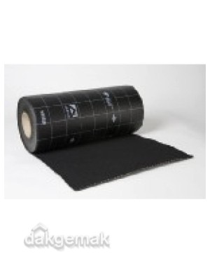 Ubiflex Standaard Loodvervanger 250mm x 12m zwart