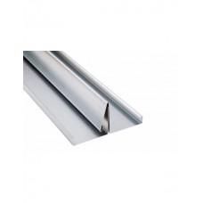 Renovatieprofiel aluminium, Gootelement, aluminium 125 x 20-100 mm