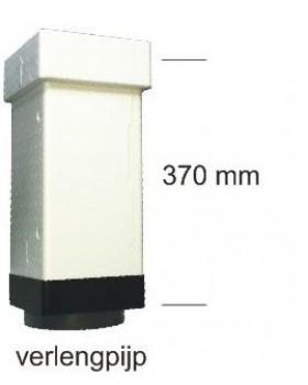 verlengpijp t.b.v. MV 160 ISO doorvoeren, lengte 370 mm