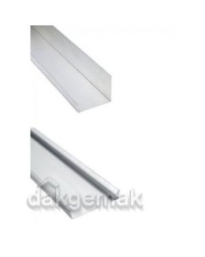 Gootelement rechts, aluminium 125 x 20-100 mm