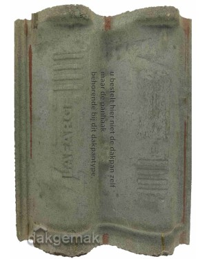 Monier Weserland Vlakke mulden (Granat 15) tikpanhaak