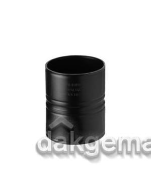 Koppelstuk - Ø 80 (zonder ring) - PE (luchttoevoer) - zwart