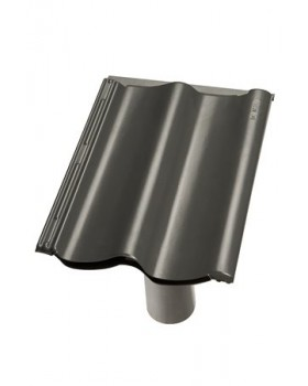 Rioolontspanningspan verholen Sneldek - 5°-55° - 1 pans (SND) - zwart