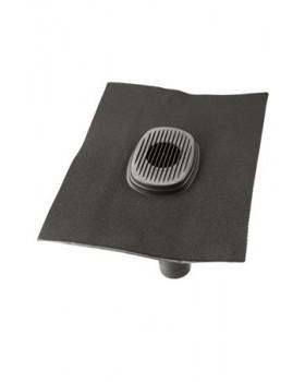 Rioolontspanningspan Ubiflex universeel 5°-55° 500x500mm (UB-R1) zwart