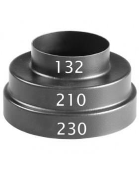 Bocht 45° (luchttoevoer) - Ø80 - PE - zwart