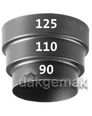 SoloVent Verloop KS 125-110-90 zwart