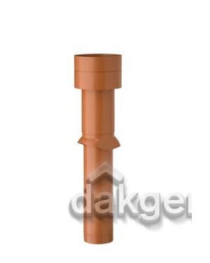 Ventub Dakdoorvoer Ventilatie 166 1110mm natuurrood