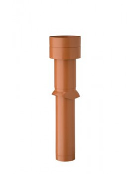 Dakdoorvoer geïsoleerd - Ø 150/160 L1110mm -natuurrood