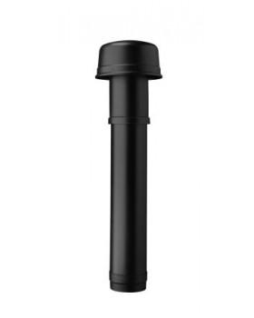Dakdoorvoer geïsoleerd - Ø 180 L1188mm - zwart