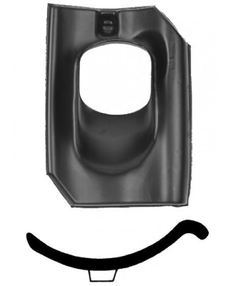 Pan Holle - Ø 131 25°-45° - 1 pans (A) - zwart