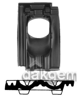 Pan Mulden Vlak - Ø 131 - 25°-45° - 1 pans (G) - zwart
