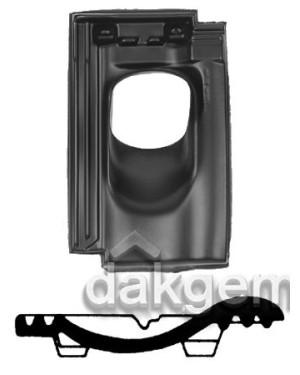 Pan Mulden Hol - Ø 131 - 25°-45° - 1 pans (BP) - zwart