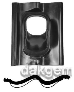Pan Sneldek - Ø 131 - 25°-45° - 1 pans (SND) - zwart