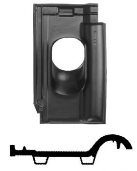 Pan Nelskamp - NF 10 Ø 131 - 25°-45° - 1 pans (NF 10) - zwart