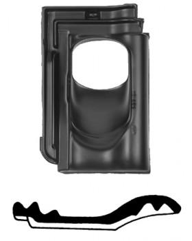 Pan Flachdachziegel - Ø 131 - 25°-45° 1 pans (FLZ) - zwart