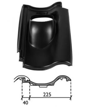 Pan de Nieuw Hollander - Ø 131 - 25°-45° - 1 pans (DNH) - zwart