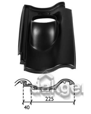 Dakdoorvoerpan 131 De Nieuwe Hollander 25-45° 1-pans DNH zwart
