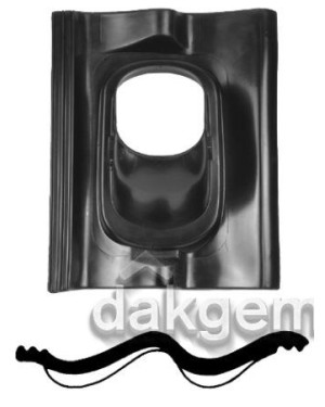 Pan Sneldek - Ø 166 - 25°-45° - 1 pans (SND) - zwart