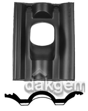Pan Neroma - Ø 166 - 25°-45° - 1 pans (NER) - zwart