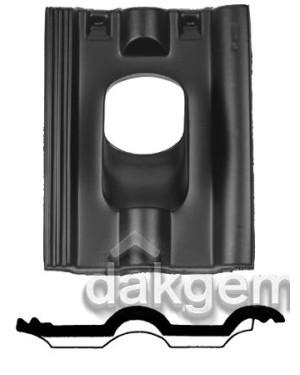 Dakdoorvoerpan 214 Finkenberger 25-45° 2-pans FR zwart