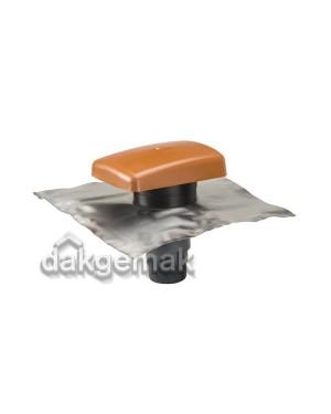 RVT 200 Ontluchtingspan Universeel terracotta lood-blank