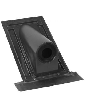 Pan horizontaal Ø 80 t/m Ø 131 - universele indekstuk 30°-45° - zwart