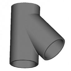T-stuk 45° geïsoleerd leidingsysteem - Ø180