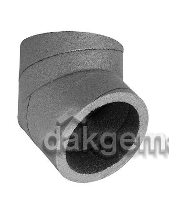 Aerfoam geïsoleerd leidingsysteem Bocht 45° EPE 150 grijs