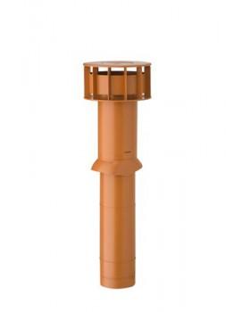 MultiVent ventilatiepijp Ø131 L750mm (bd 350/od 400) met schaal terra