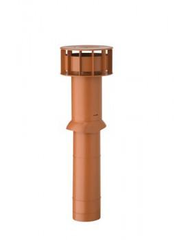 MultiVent ventilatiepijp Ø131 L750mm (bd 350/od 400) met schaal n.rood