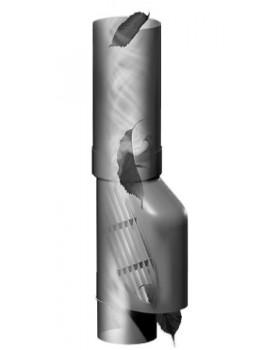 Bladscheider voor hemelwaterafvoer -  Ø 80mm - grijs