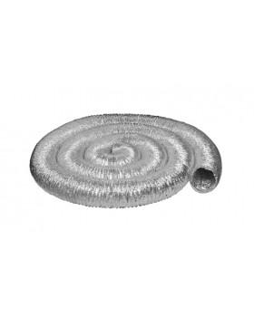 Aluminium flexibele buis Ø 127 voor uitw. pijp Ø 125 (doos à 10 mtr)