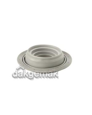 Flexub (flex. DDVmanchet) voor geprof. dakelementen Ø 110-200 mm grijs