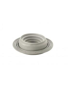 Flexub (flex DDVmanchet) voor geprof. dakelementen Ø 110-200 mm zwart