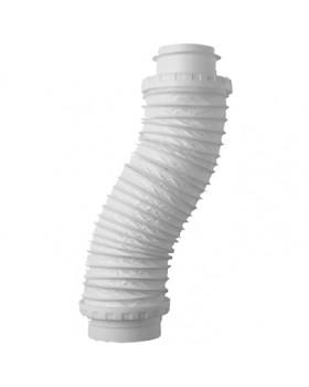Flexibel Aansluitst. voor Dakdoorvoer Ø 131 naar buis Ø 125 L650mm wit