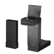Vloerventilatiekoker - Compleet (WF) - zwart