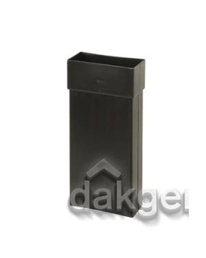 VloerVent Nieuwbouw Verlengstuk horizontaal 200mm zwart