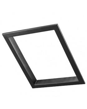 Interieur afwerkrand - Purilan dakraam 31 (pangevormd indekdeel) zwart