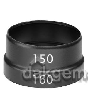 Verloop KS 160-150 zwart