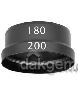 Aerfoam geïsoleerd leidingsysteem Verloop KS 200-180 zwart