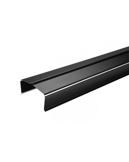 Muurafdekprofiel univ. voor snelbouwstenen -  L 1500 mm - zwart