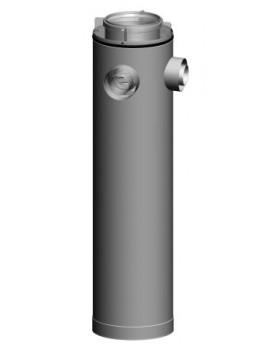 Etage T-stuk CLV -Ø125/200-2xØ80/125 90° - PPTL/metaal