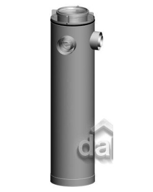 Rolux CLV Etage T-stuk PP/metaal 125/200 - 2x80/125 hoek 90°