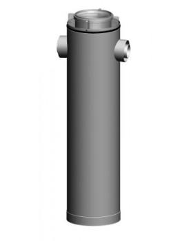 Etage T-stuk CLV -Ø125/200-2xØ80/125 180° - PPTL/metaal