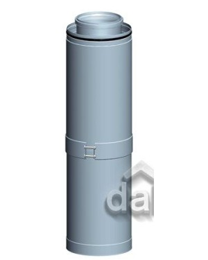 Etage T-stuk CLV -Ø160/250-1xØ80/125 - PPTL/metaal