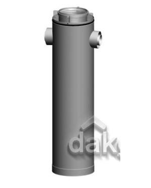 Etage T-stuk CLV -Ø160/250-2xØ80/125 180° - PPTL/metaal