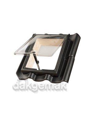 PE Dakraam Holle 6-pans A2 zwart