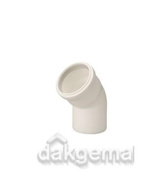 Bocht 45° PP 80 wit
