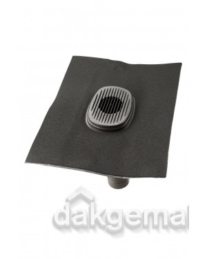 Rioolontluchtingspan Ubiflex universeel 5-55° 500mm x 600mm zwart